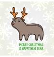 Cute deer postcard vector image vector image