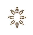 decorative-floral-coffee vector image vector image
