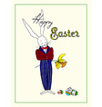 Easter Mr Rabbit vector image