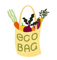 eco bag cloth tote full of vector image