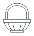 empty basket symbol vector image