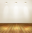 empty room with wall and yellow wooden floor vector image vector image