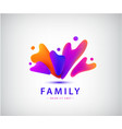 family with kids people group logo vector image vector image