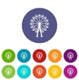 Ferris wheel set icons vector image vector image