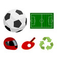 field stadium with markings for playing football vector image vector image
