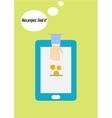 Flat design concept of crowdfunding via smartphone vector image