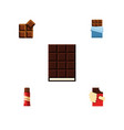 flat icon cacao set of dessert bitter sweet and vector image vector image