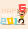 Funny 2016 New Years vector image vector image