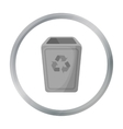 Garbage can icon in cartoon style isolated on vector image