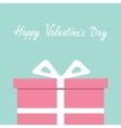 Gift box with ribbon and bow Present giftbox vector image vector image