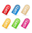 Gift Stickers vector image vector image