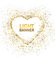 glitter heart frame with space for text golden vector image vector image