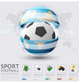 Global Football And Sport Infographic vector image vector image