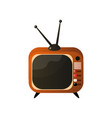 granny old retro tv set with double antenna vector image