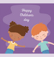 happy childrens day afro american girl and boy vector image vector image
