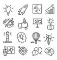 idea line icons on white background vector image vector image