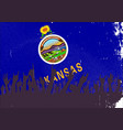 kansas state flag with audience vector image