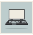 Laptop notebook computer vintage icon vector image vector image