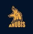 modern egyptian god anubis logo vector image vector image
