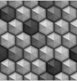 monochrome hexagones seamless background vector image vector image