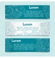 Ornamental banners horizontal vector image vector image