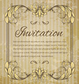 page decoration template vintage frame vector image vector image