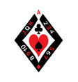 poker deck sign vector image