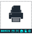 printer icon flat vector image