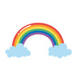 rainbow clouds dream fantasy isolated icon design vector image