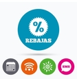 Rebajas - Discounts in Spain sign icon Star vector image vector image
