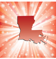 Red Louisiana vector image
