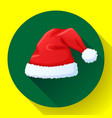 red santa claus hat icon new year cap vector image vector image