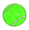 retro tennis ball vector image vector image