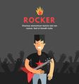 Rock Musician Playing Electrical Guitar Flat vector image