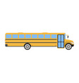 school bus flat icon and logo cartoon vector image vector image