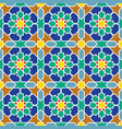 seamless arabic geometric colored ornament in vector image vector image
