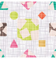 seamless pattern background tissue design vector image vector image