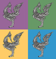 Seamless pattern of thai traditional swan vector image