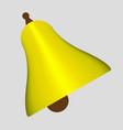 simple flat yellow bells vector image vector image