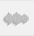 sound waves icon white icon with soft vector image vector image