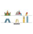 spain madrid city flat landmarks vector image vector image