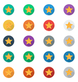 Stars icon set with long Shadow vector image vector image