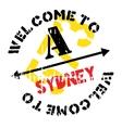 Sydney stamp rubber grunge vector image vector image