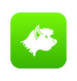 terrier dog icon digital green vector image vector image