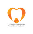 tooth logo template for dentistry vector image