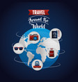 travel around the world vector image vector image