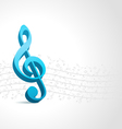 treble clef music background vector image vector image
