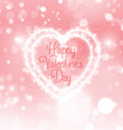 valentines day sparkle heart 0601 vector image vector image