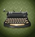 Vintage design of typewriter vector image