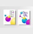 gradient modern poster vector image